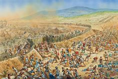 """""""Platea (479 BC). The Greek left storming the Persian camp at Mycale"""", Peter Dennis"""