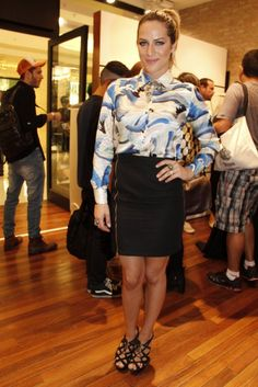 Giovanna Ewbank no Vogue Fashion's Night Out.