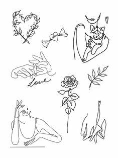 Top right is sooooo me – Tattoo, Tattoo ideas, Tattoo shops, Tattoo actor, Tattoo art – Piercings 2020 Kunst Tattoos, Tattoo Drawings, Tattoo Art, Tattoo Illustrations, Tattoo Linework, Tattoo Flash Art, Dog Tattoos, Body Art Tattoos, Tatoos