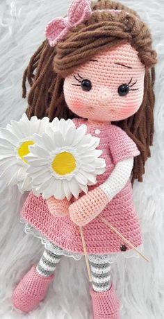 64+ Ganchillo de Amigurumi Ideas lindas y asombrosas del diseño del patrón del Amigurumi Part 27 Crochet Doll Tutorial, Crochet Doll Pattern, Crochet Bunny, Crochet Amigurumi Free Patterns, Easy Crochet Patterns, Doll Patterns, Crochet Gifts, Crochet Doilies, Crochet Toys