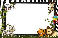 tag safari Jungle Party, Barnyard Party, Safari Birthday Party, Baby Birthday, Safari Theme, Jungle Theme, Safari Invitations, Boarders And Frames, Kids Background