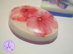 Tutorial: Saponette decorative con carta di riso (decorative soap with rice paper) [eng-sub] - YouTube