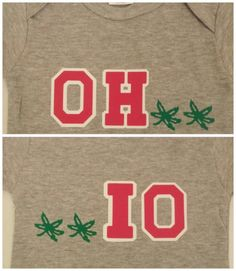 Ohio State back and front onesie by FatCatCustomDesigns on Etsy