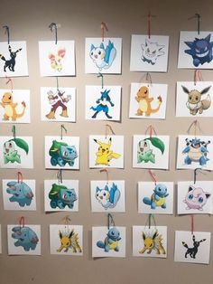 This will be a long post, but we figured keeping all of the activities and Pokemon Themed Party, Pokemon Birthday, Birthday Party Games, Pokemon Hunt, Pokemon Craft, Pokemon Printables, Free Printables, Pokemon Games For Kids, Christening Invitations Boy