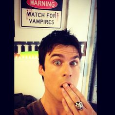 Pin for Later: Ian Somerhalder Is the Master of Hot Selfies The Surprised Selfie