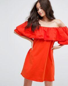 ae9bc588981 Bershka | Bershka Ruffle Wrap Front Mini Dress | My Style | Dresses ...
