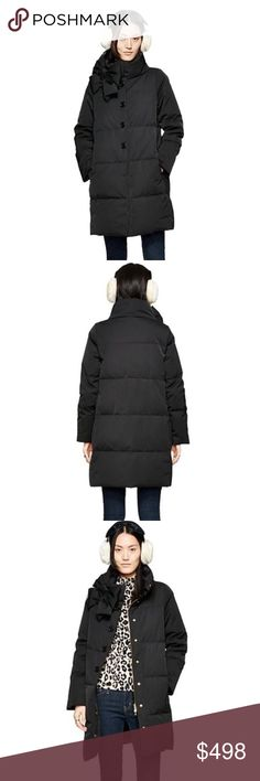 "Kate Spade Black Bow Puffer Down Jacket Size S & L Kate Spade Black Bow Puffer Jacket~Sold Out Everywhere!!!! New with Tags!!! Details: 100% polyester. longsleeves, long seam pockets, interior lightweight polar fleece pocket bag, now detail at neck. Center front snap closure. Measures Bust 39"" Natural Waist 32"" Hip 42"" NO Trades. Price Firm Unless Bundled. 10% Off 2 items 15% Off 3 items. kate spade Jackets & Coats Puffers"