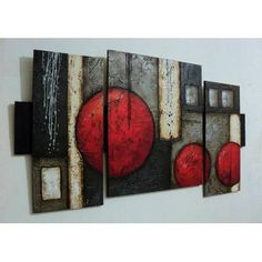 Cuadros Abstractos Con Texturas Y Alto Relieve - S/. 350,00 en MercadoLibre