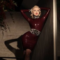 latexfashion:  westward-bound-latex:  Mosh is simply exquisite in Westward Bound #Latex in this stunning image by Dutch Rall of Nocturne Blue. http://ift.tt/17qhs28 Location: Los Angeles, California. USA  Brown dress with lace like appliques.