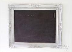 magnetic chalkboard frame - step by step instructions  from armelleblog.com