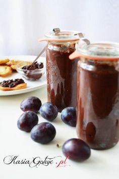 nutella ze śliwek Food Cakes, Preserves, Nutella, Cake Recipes, Pudding, Cream, Fruit, Sweet, Blog
