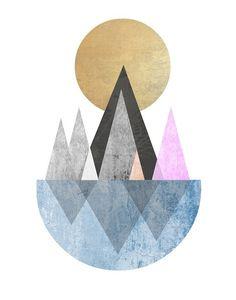 Mid Century Modern Art Print Geometric Art by exileprints on Etsy