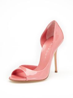pink patent pump