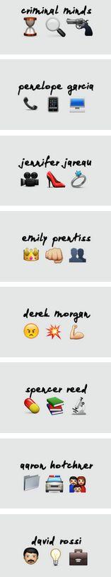 Criminal Minds team as emoji!