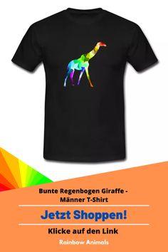 Kaufe dir jetzt diesen T-Shirt für die Sommertage. Lass dir diese und weitere Tier-Zeichnungen auf deine Herren-Mode drucken. Lasse dich inspirieren   Schau jetzt in unserem Shop vorbei! Klicke jetzt auf den Link! #T-Shirt #Herrenmode #Stile #Herrenstile #Spreadshirt #Giraffe #Rainbowanimals #Mode #Herrenoutfit #Herrenbekleidung #Modeinspiration #Inspiration