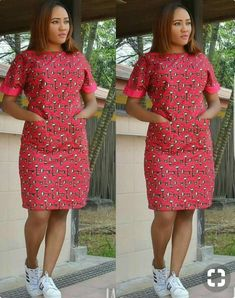 african dress styles African Ankara knee length Dress handmade women pleased waist dress with sides pockets. Dress with unique multi color office, party and all occasions A copy of our size chat has been added African Fashion Ankara, Latest African Fashion Dresses, African Print Fashion, Africa Fashion, African Prints, African Style, African Fabric, Ankara Stil, Short African Dresses