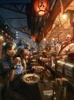 30 Amazing Digital Manga Artwork crossover