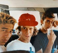 Steve Caballero , Tony Hawk , Lance Mountain from 1987 Skateboard Photos, Skate Photos, Skateboard Art, Skateboard Ramps, New Skate, Skate Surf, Hugh Holland, Old School Skateboards, Skate And Destroy