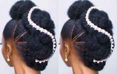 28 Bridal Hairstyles For Natural Hair - HiswordMybeauty - Oppo system Braided Updo Natural Hair, Natural Hair Wedding, Natural Wedding Hairstyles, Long Natural Hair, Wedding Hair Down, Natural Hair Styles, Natural Dreads, Wedding Updo, Wedding Cake