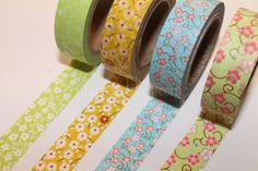 Washi Tape Set  Japanese Washi Tape  Masking Tape  Deco by mieryaw, $11.80