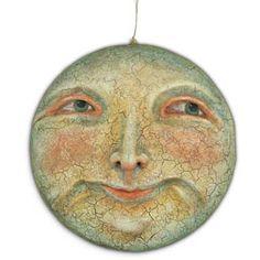 Vergie Lightfoot - Man in the Moon Sun Moon Stars, Sun And Stars, Moon Time, Vintage Moon, Luna Moon, Moon Illustration, Paper Moon, Good Night Moon, Moon Magic