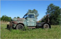 """Old Tow Truck. This could easily have been the inspiration for the Mater character in the movie """"Cars""""."""