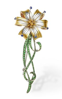 ARMAGGAN Jewelry Collection / Sapphire Lily Brooch