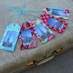 Sew these Luggage Tags PDF Pattern