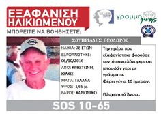 ΓΝΩΜΗ ΚΙΛΚΙΣ ΠΑΙΟΝΙΑΣ: Εξαφανίστηκε ο 78χρονος Θεόδωρος Σωτηριάδης από τη...
