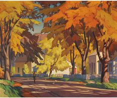 """Casson painting sells for record price - The Globe and Mail - """"Street in Glen Williams Tom Thomson, Emily Carr, Canadian Painters, Canadian Artists, Marcelle Ferron, Group Of Seven Art, Ontario, Satirical Illustrations, 1 Gif"""