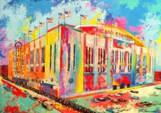 $180.00 Al Sorenson #Art Chicago Stadium Canvas 18X24 -- A Collectibles of Fine Art
