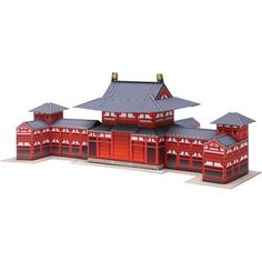 Byodoin Phoenix Hall, Japan Mini Version,Architecture,Paper Craft,Paper Craft,temple,easy,building,Small-size,Japan,buddhism,Kyoto,Chinese phoenix
