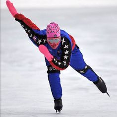 A speed skater takes advantage of a beautiful afternoon at the Victoria Oval in Edmonton, Alberta on Dec. 13, 2012. Photo by John Lucas/Edmonton Journal #skating #speedskating #winter #yeg #ice