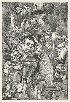 Lewis Carroll's The Hunting of the Snark (An Agony in 8 Fits). Illustration by Henry Holiday