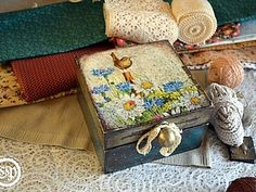Шкатулка для рукодельницы, кантри-стиль, мастер-класс   Ярмарка Мастеров - ручная работа, handmade