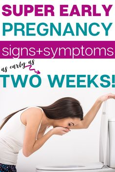 Are you going mental trying to figure out if you are pregnant? Whether you were trying to conceive or not, check out this list of early pregnancy signs and symptoms (as early as two weeks!) to find out if you are pregnant! Pregnancy Signs And Symptoms, Early Pregnancy Signs, Earliest Pregnancy Symptoms, Pregnancy Hormones, Pregnancy Labor, Pregnancy Advice, Pregnancy Months, Pregnancy Workout, Advice For New Moms