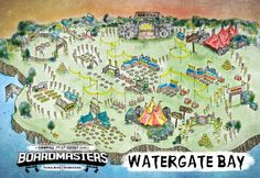 Boardmasters music arena at Watergate Bay. This weekend!