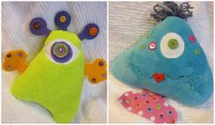 Have you met Fin and Polly? They are our button monsters! Cricket shows you how to create them
