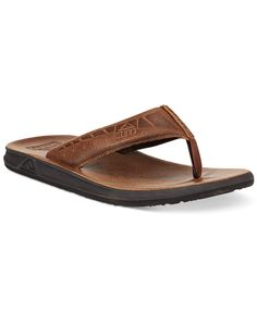 f01413ea0 Get in the summer spirit with these leather flip-flops from Reef.