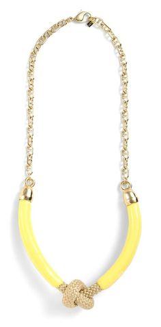 Brookside necklace in Lemon.