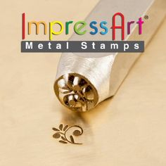 Floral metal stamping design stamps