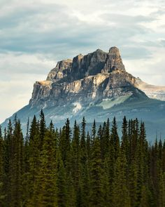 Castle Mountain Banff NP.