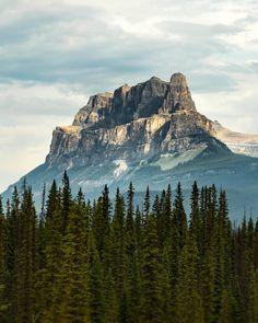 Castle Mountain in Banff National Park [OC][1080x1350]