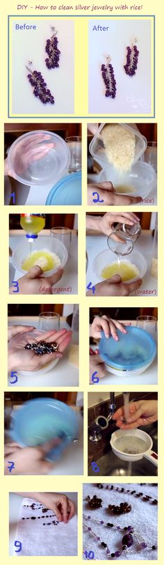 DIY - how to clean jewelry at home with method similar to a professional one, with rice and detergent! Original video with subtitles in English at: https://www.youtube.com/watch?v=1e3BlnpwHLk by Charlotte Lissel