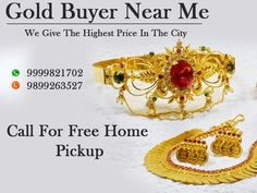 You can sell your gold at sector 18 Noida, and that is our head office in Noida. You can sell any kind of gold here like old, broken, new, scrap etc. Just call us on 9999821722.
