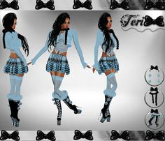 ✮BLUE BLACK PLAID BUNDLE: http://www.imvu.com/shop/product.php?products_id=22662585  *Comes with outfit, scarf, earrings, and boots.  *Hair avilable at: http://www.imvu.com/shop/product.php?products_id=22661518  ✿My Full Catty: http://www.imvu.com/shop/web_search.php?manufacturers_id=95572994  ✿☆ ¸. • * ¨ * • ☆Just out of Peer ☆ ¸. • * ¨* • ☆✿