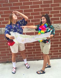 """15 """"Mom Approved"""" Halloween Costumes for Teen Girls - Halloween Costume Ideas - Tacky Tourist Outfits, Tacky Tourist Costume, Homecoming Themes, Homecoming Spirit Week, Homecoming Dresses, Prom, Halloween Costumes For Teens Girls, Theme Halloween, Teen Girl Costumes"""