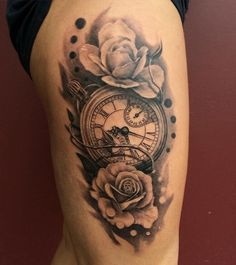 Pocket watch tattoo - 100 Awesome Watch Tattoo Designs <3 <3