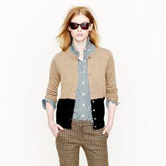Tippi cardigan in colorblock - cardigans - Women's sweaters - J.Crew