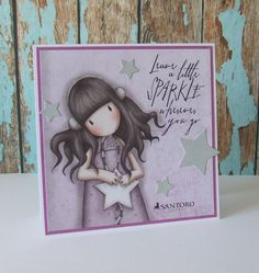 The image is on a sheet of 12x12 Gorjuss paper. Sentiment by Tim Holtz/Stampers Anon.